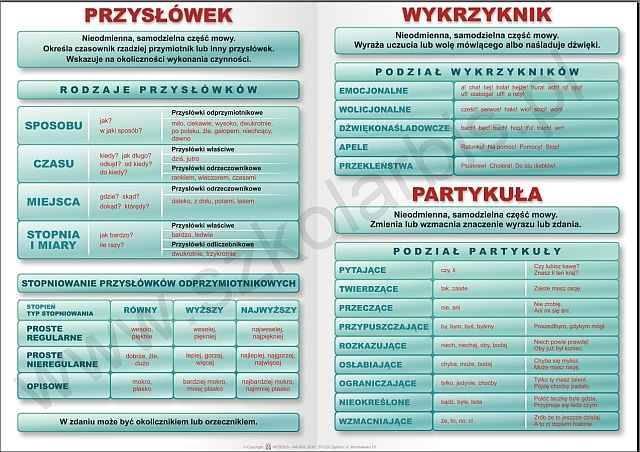 gramatyka języka polskiego klasa 6