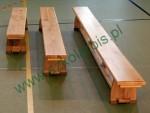 Ławka gimnastyczna, nogi drewniane,  długość 2,00 m.