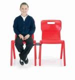 Krzesło jednoczęściowe z polipropylenu Titan 4