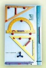 Tablica z magnetycznymi przyrządami do klas nauczania początkowego - pozioma/pionowa